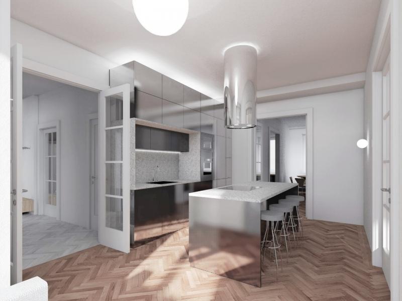Rekonštrukcia bytu, Bratislava, 2016, Lucký architects