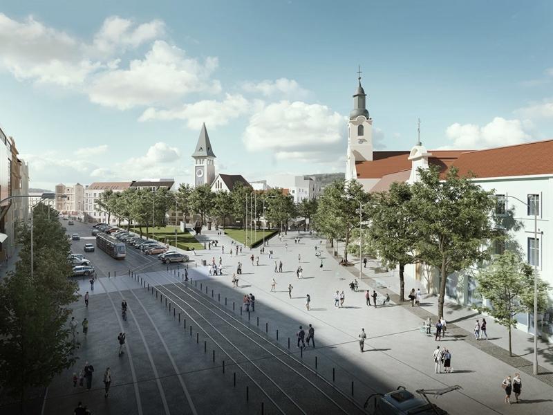 Živé námestie, SNP+Kamenné, Bratislava, 2017