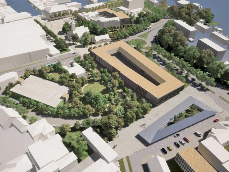 Námestie SNP a urbanizmus časti mesta, Martin, 2020, Lucký architects