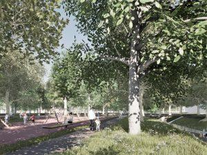 Obnova mestského parku, Senica, 2020